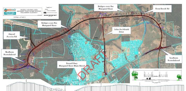 Margaret River Perimeter Road concept plan 2015