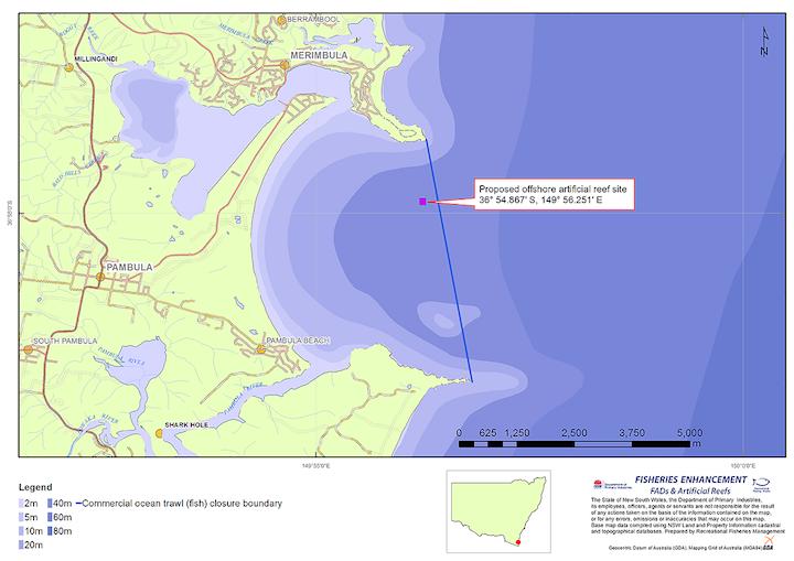 Merimbula Reef Location - Australian Tenders